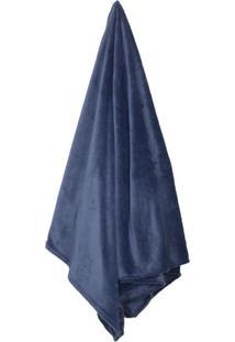 Cobertor Flannel Loft Queen Size- Azul Marinho- 220Xcamesa