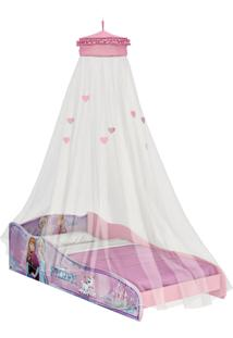 Mini-Cama Frozen Disney C/Dorsel De Teto Rosa Pura Magia