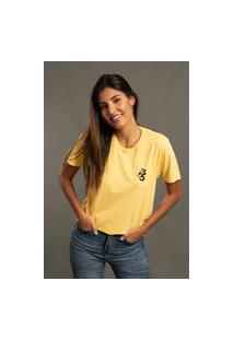 Camiseta Bossa Brasil Symbol Amarela