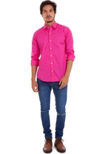 Camisa De Tricoline Com Stretch Joss Rosa