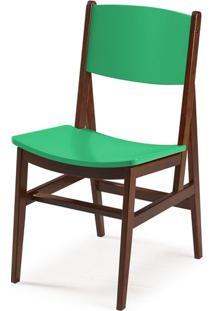 Cadeira Dumon Cor Cacau Com Verde Anis - 30800