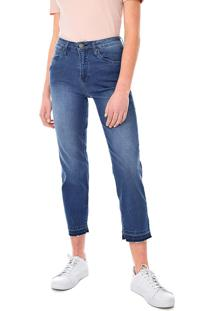 Calça Jeans Calvin Klein Jeans Slim Cropped Straingt Azul