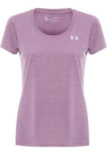 Camiseta Feminina Twist Ua Tech - Roxo
