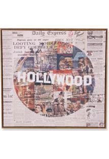 Quadro Em Canvas Colagem Hollywood 70Cm