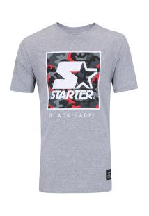 Camiseta Starter Red Camouflage - Masculina - Cinza