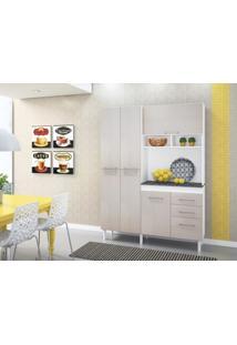 Cozinha Compacta 6 Portas Vicenza Branco / Avela - Peternella