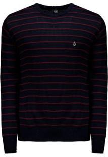Blusa Tricot Volcom Stripe Heather Masculino - Masculino