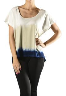 Blusa Marcia Mello Tricolor Tie Dye Branca