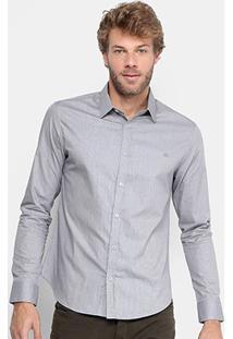 Camisa Calvin Klein Slim Fit Quadriculado Mini Masculina - Masculino