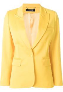 Styland Blazer Com Botões - Amarelo