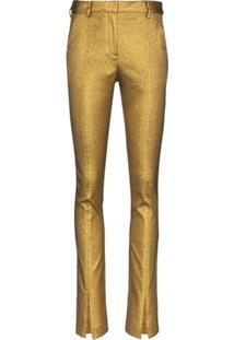 Victoria Beckham Calça De Lurex - Dourado
