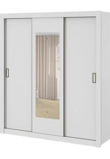 Guarda-Roupa Apoena Lopas 3 Portas E 3 Gavetas Com Espelho Branco