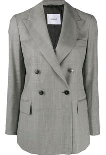 Dondup Double-Breasted Houndstooth Blazer - Preto