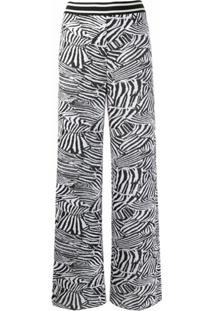 Missoni Calça Flare Com Estampa De Zebra - Preto