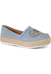 Alpagarta Com Aplicações Prime Shoes Feminina - Feminino-Azul