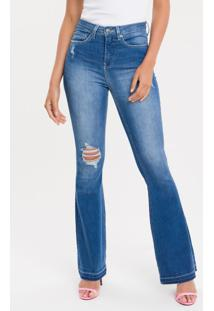 Calça Jeans Five Pockets Ckj 040 High Rise Flare - 34