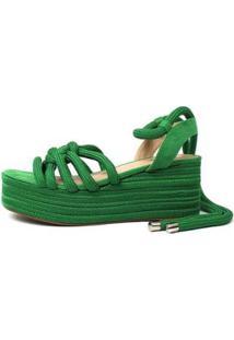 Sandália Damannu Shoes Corda Thaila Feminina - Feminino-Verde