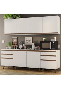 Cozinha Completa Madesa Reims 240002 Com Armário E Balcão - Branco Branco