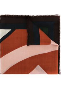 Tory Burch Echarpe Color Block - Preto