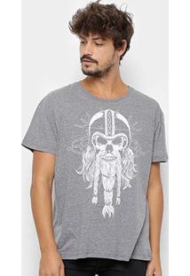 Camiseta Triton Caveira Masculina - Masculino-Preto