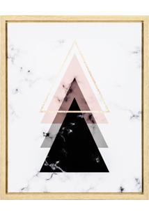 Quadro De Canvas Com Triângulos Mart