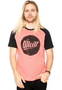 Camiseta O'Neill Raglan Hyper Laranja