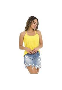 Blusa Crepe Feminina Endless Amarelo
