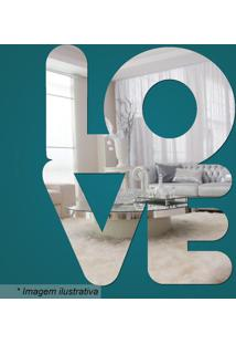 Espelho Love- Espelhado- 38X30X15Cm- Cia Lasercia Laser