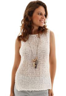 Regata Aha Crochet Fita Off- White