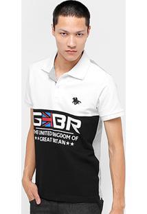 Camisa Polo Rg 518 Piquet Recorte Br Masculina - Masculino