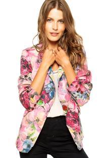Blazer Mooncity Floral Rosa