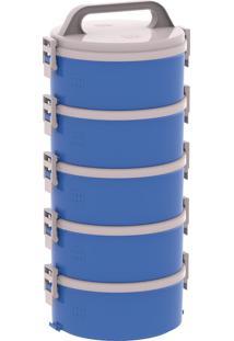 Conjunto Marmita Termoprato 5 Peças Tekcor 1.5L Azul Soprano