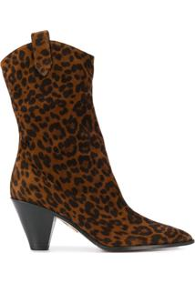 Aquazzura Bota Com Estampa Animal Print - Marrom