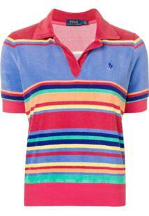 ... Polo Ralph Lauren Camisa Polo Listrada - Vermelho bb5902aecc9