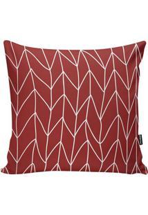 Capa De Almofada Geomã©Trica- Vermelha & Branca- 45X4Stm Home