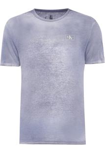 Camiseta Masculina Ckj Devore - Azul