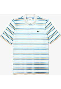Camisa Polo Lacoste Live Regular Fit Masculina - Masculino-Branco