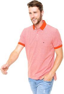 Camisa Polo Tommy Hilfiger Reta Laranja
