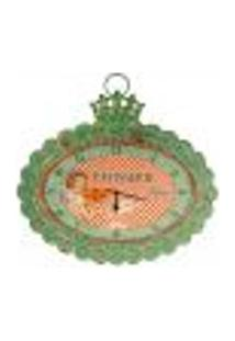 Relógio De Parede Patisserie Vintage 44Cm Laranja