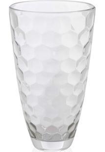 Vaso Em Vidro Transparente Honey 30Cm