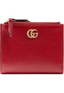 4eafd5db7 ... Gucci Carteira De Couro 'Gg Marmont' - Vermelho