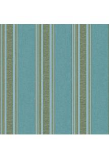 Papel De Parede Vinilico- Azul & Verde- 1000X53Cm