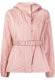Moncler Elasticated Waist Hooded Jacket - Rosa