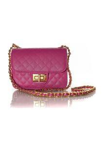 Bolsa Feminina Matelassê E Corrente Dourada Luxo Lançamento Blogueira Pink