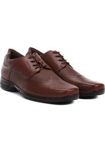 Sapato Social Couro West Coast Air Control - Masculino-Caramelo