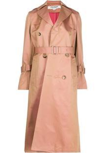 Junya Watanabe Trench Coat Com Pregas - Neutro