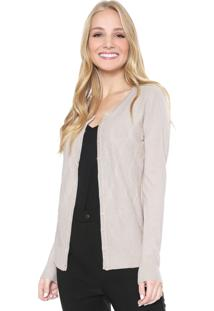 Cardigan Facinelli By Mooncity Tricot Étinico Bege