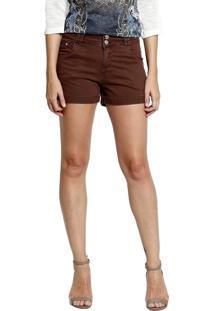 Shorts Tecido Energia Fashion Marrom
