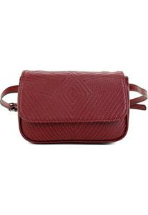 Bolsa Shoestock Belt Bag Matelassê Feminina - Feminino-Vinho