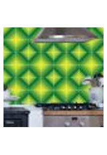 Adesivo De Azulejo Losangos Tons Verdes 20X20Cm